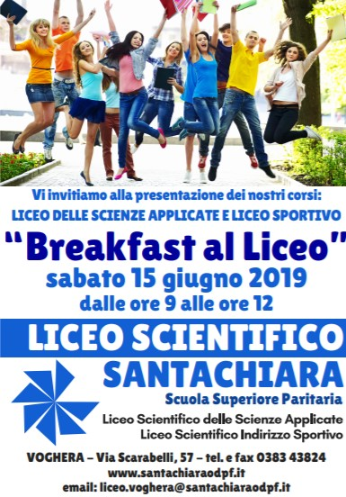 03/06/19 BREAKFAST AL LICEO: nuovo appuntamento di orientamento