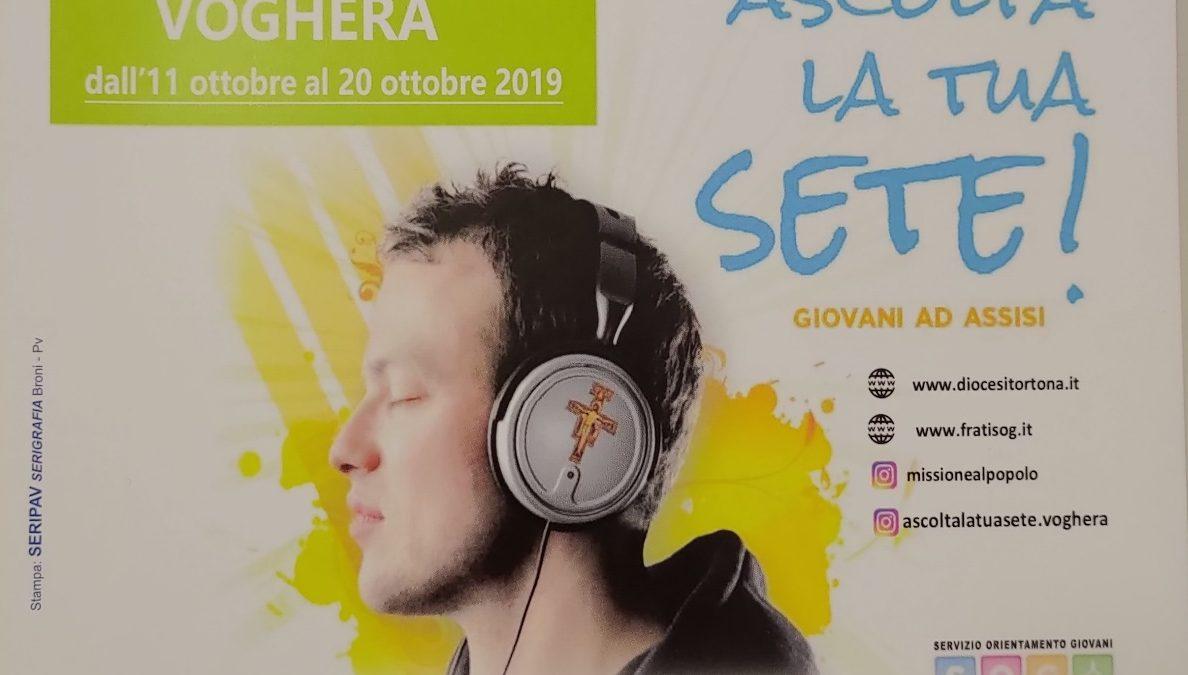 """02/10/2019 L'Istituto Santachiara e la missione giovani """"Ascolta la tua sete!"""""""