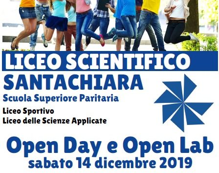 13/11/2019 Partecipa all'Open Day e Open Lab del Liceo Santachiara