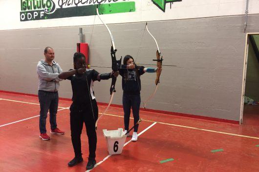 Lezioni di tiro con l'arco al Liceo Sportivo