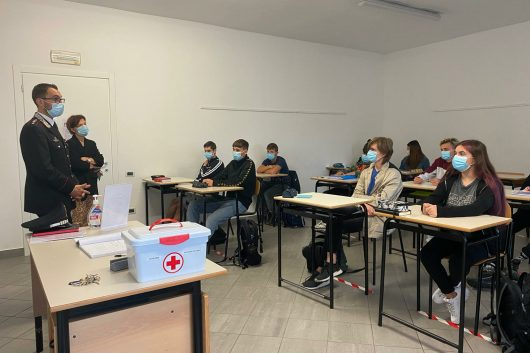 Il nuovo Comandante della Compagnia Carabinieri di Tortona in visita all'Istituto SANTACHIARA