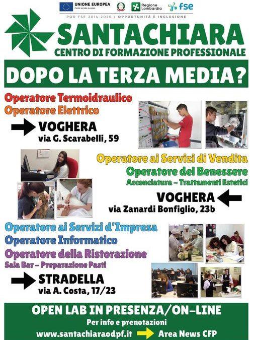 Open Lab nella sede del CFP di via Zanardi a Voghera