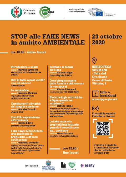 """Il Liceo Santachiara partecipa al convegno """"Stop alle fake news in ambito ambientale"""""""